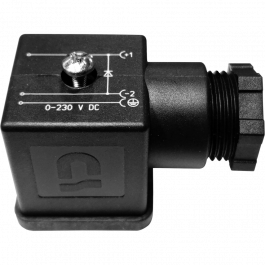 DIN CONNECTOR W/DIODE